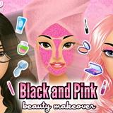 Черно-розовый Макияж