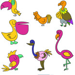 Раскраска Птички