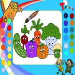 Раскраска овощей