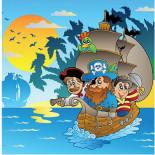 Пазл Пираты на корабле