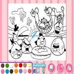 Раскрась Angry Birds
