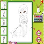 Раскраска принцесс