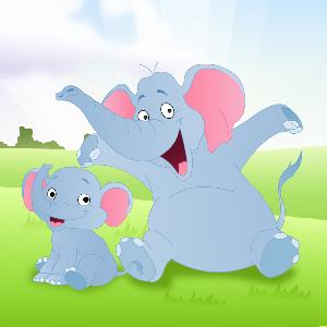 Пазл Слоненок для 3-4 лет