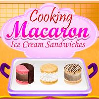 Готовим сэндвичи с макарунами и мороженым
