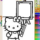 Китти рисует