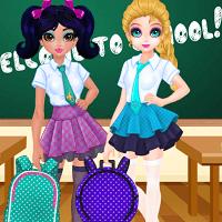 Жасмин и Эльза: конкурс дизайна школьных сумок
