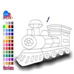 Раскрась локомотив