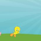 Твити прыгает