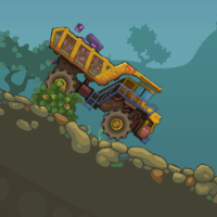 Перевозка камней на грузовике
