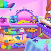 Уборка в доме принцессы куколки