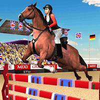 Прыжки на лошаде: 3Д шоу