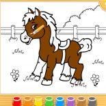 Раскраска для Малышей Лошадка
