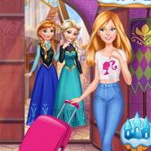 Барби гостит у Эльзы и Анны