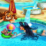 Принцесса Жасмин в Бассейне