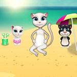 Игра Кошка Анжела на Пикнике