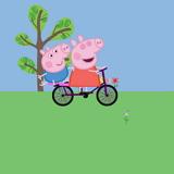 Свинка Пеппа на Велосипеде