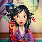 Прическа для принцессы Мулан