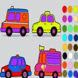 Раскраска Служебные Машинки