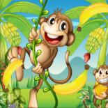 Пазл Озорные обезьянки