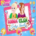 Весенние Наряды Анны и Эльзы