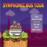 Автобус перевозит музыкальные инструменты для симфонического оркестра