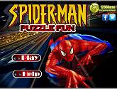 Человек паук: забавные пазлы собираем вместе