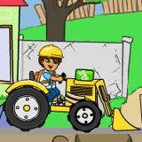 Диего на тракторе — чистка окружающей среды