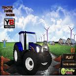 Гонка тракторов на ферме