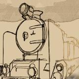 Грузовой паровой поезд