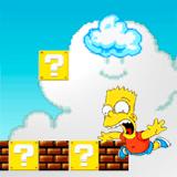 Барт и Гомер в Мире Марио