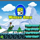 Бен 10 на зимнем велосипеде – холодные гонки
