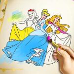 Принцессы Диснея: книга раскрасок