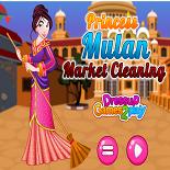 Принцесса Мулан Убирает Рынок