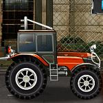 Трактор спасает машины