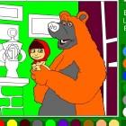 Раскраска Машы и Медведя