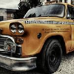 Пазл со старинным такси