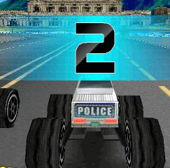 Полицейский монстр грузовик