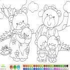 Раскраска медведей