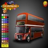 Раскрась Автобус