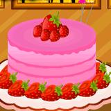 Украшение клубничного торта